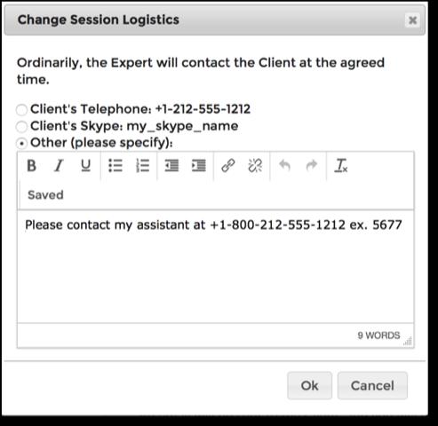 Help - Meeting Logistics